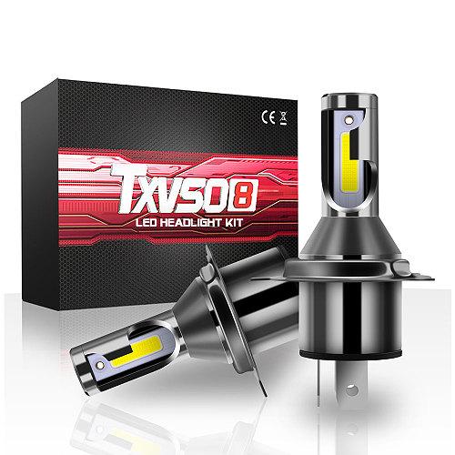 TXVSO8 Latest Diode Lamp H4 LED Headlights for Car MINI 9003/HB2 Hi/LO Universal Auto COB 6000K Light 55W/Bulb 26000LM 자동차 led
