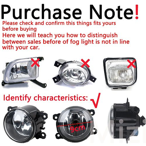 LED Fog Lights for Mitsubishi ASX RVR Outlander Sport 2013-2015 Fog Light Covers foglight With Wiring Grilles Harness Switch Kit