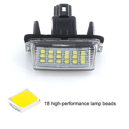 2PCS CANbus White For Toyota Yaris/Vitz Camry Corolla Prius C Ractis Verso S Led Licence Number Plate LED Lamp Light OEM REPLACE