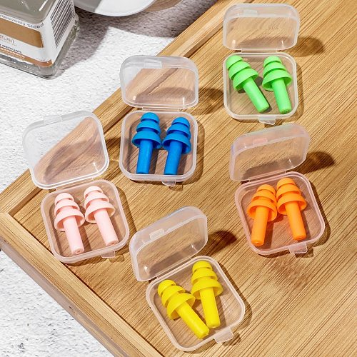Soft Silicone Ear Plugs Noise Reducer Hearing Protection Sleeping Snoring Earplugs Mini Portable Travel Daily Health Care Tool