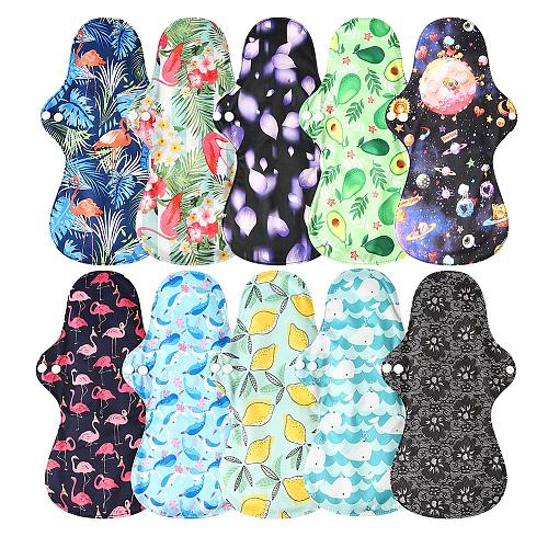 Free Shipping 1pc Washable Heavy Flow Night Use Feminine Hygiene Cloth Menstrual Pads Sanitary Pad with Bamboo Charcoal Inner