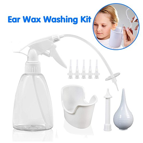Ear Wax Washing Kit Remover Irrigation Tool Set 300ml Capacity Children Adults Kid Portable Cleaning Washer Rinse Bottle