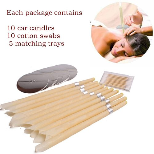 10/25pcs Ear Candles Ear Wax Clean Removal Natural Beeswax Propolis Indiana Therapy Fragrance Candling Cone Candle Relaxation