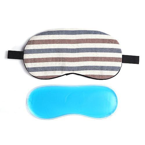 1PC Sleeping Mask Eyepatch Eye Cover Cute Colorful Stripe Shape for Eye Travel Relax Sleeping Aid Eye Patch Shading Eye Mask
