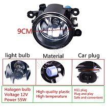 Fog Lights Fog Lamp For Mitsubishi Outlander L200 Pajero Grandis Galant 2003-2015 Halogen LED Fog Light 2pcs 55W Super Bright