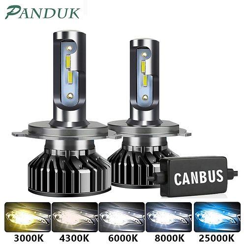 PANDUK Car Headlight 20000LM 110W CSP H4 LED H7 Canbus H1 H3 H8 H11 9005 9006 3000K 6000K Car Auto Headlamp Led Lights For Car