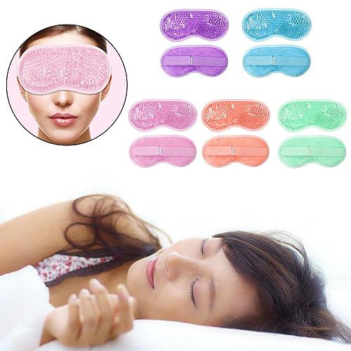 Eyeshade Eye Patch Reusable PVC Gel Beads Eye Mask Flexible Soothing Relaxing Sleeping Mask Ice Goggles for Hot Cold Therapy