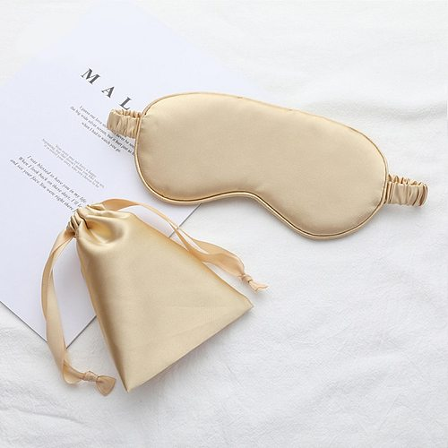 Sleeping Silk Night Eye Mask Help To Sleep Aid Blindfold With Cloth Bag Eyepatch Rest For Men Women Breathable Many Color Cover