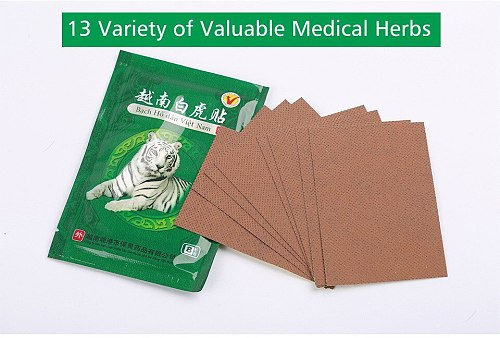 16pcs/2bags Vietnam White Tiger Balm Joint Aches Pain Patch Rheumatism Arthritis Natural Herbal Medical Plaster Health Care C068