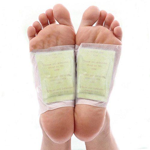 10Pcs Gold Premium Kinoki Detox Foot Patches Pads Body Toxins Feet Slimming Cleansing Herbal patch (5Pcs Patch+5Pcs Adhesive)