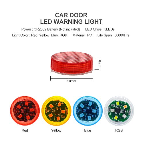 NEW LED Car Door Opening Warning Lights Wireless Magnetic Induction Strobe Flashing Anti Rear-end Collision Safety Lamps