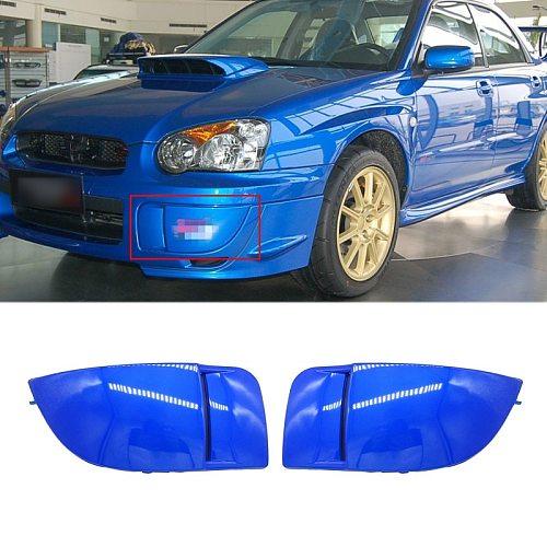1 Pair New Car Front Bumper Fog Light Lamp Covers Mask Bumper Cover Cap Trim Protection For Subaru Impreza STI WRX 2004-2005