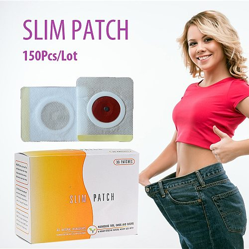 50Pcs/Lot Slimming Patch Navel Burn Fat Weight LossPatch Waist Belly Anti Cellulite Patch Slimming Products
