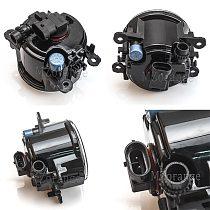 LED Fog Lights for Honda Civic 2016-2018 10th generation Fog Light Halogen Grilles Grill Cover Frame Wiring Harness Switch Kit