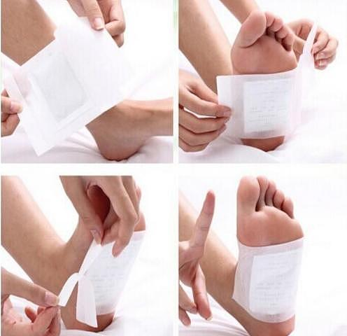 200pcs/lot 100pcs Patches+100pcs Adhesives Gold/White Detox Foot Patch Bamboo Organic Herbal Cleansing Foot Patches Weight Loss