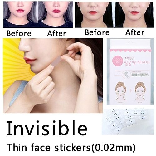 40/80 Pcs Invisible Thin Face Stickers Fast Face Lift Up Facial Line Wrinkle Sagging Skin V-Shape Chin Adhesive Tape Dropshipe