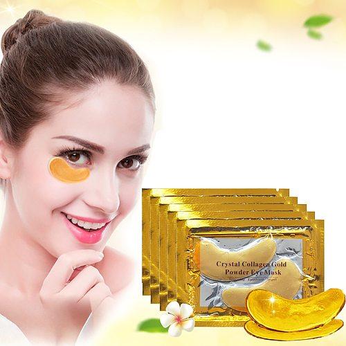 5/10Pair 24K Gold Crystal Collagen Eye Mask Anti Aging/Dark Circles/Puffiness/Wrinkle Moisturizing Eye Patch Eye Skin Care Gel