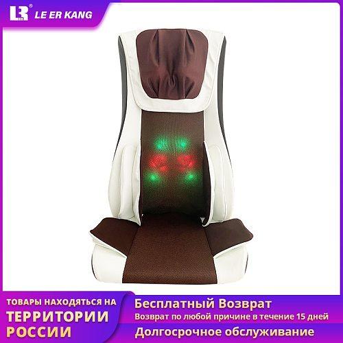 LEK909 4D Full Body Electric Manipulator Massage Chair Neck Back Vibration Heating Shiatsu Airbags Massage Cushion EU customized