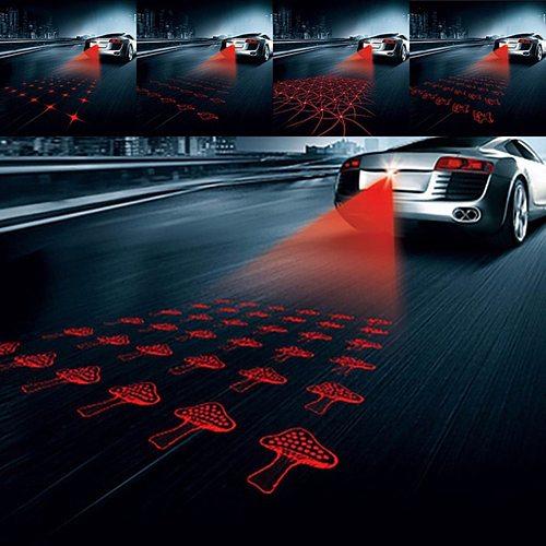Universal LED Car Motorcycle Laser Fog Light Anti Collision Tail Lamp Auto Moto Braking Parking Signal Warning Lamps Car Lights