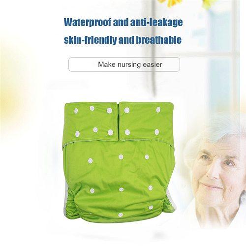 Hot Sale Cloth Pocket Diaper 1PC Washable &Reusable Adult Nappy New Print Adjustable Elderly Diaper Cover