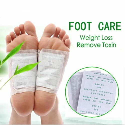 20pcs=(10pcs Patches+10pcs Adhesives) Detox Foot Patches Pads Body Toxins Feet Slimming Cleansing Herbal Adhesive Slim Patch
