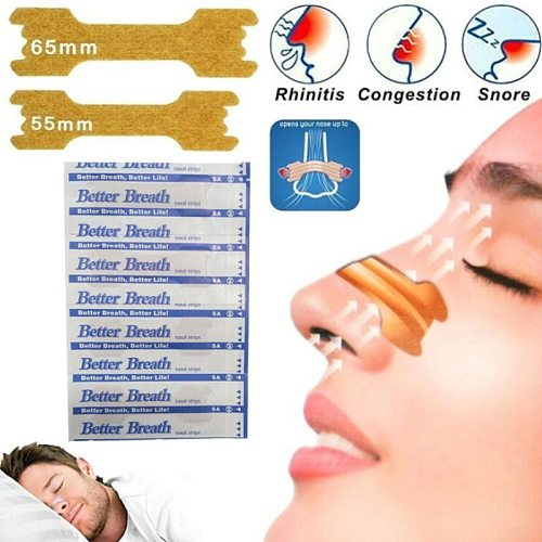 Hot Selling 50  Pieces Anti Snore Strips Easier Better Breathe 55*16 mm Breathe Right Better Nasal Strips To Stop Snoring