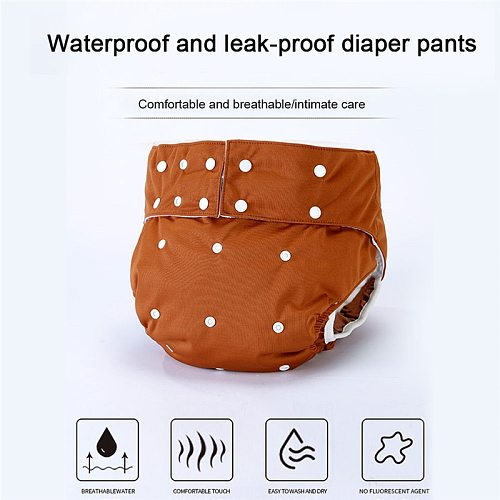 1PC Adult Washable Eco-friendly Cloth Diaper Ecological Adjustable Nappy Reusable Diaper for the Elderly With Incontinence