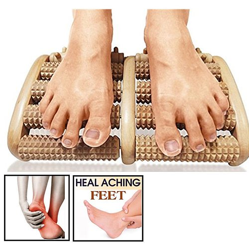 3/5 Raw Wooden Foot Roller Wood Care Massage Reflexology Relax Relief Massager Spa Gift Anti Cellulite Foot Massager Foot Care