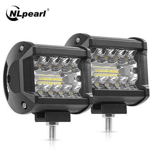 Nlpearl Light Bar/Work Light 60W 4'' 7'' LED Work Light Bar Offroad Truck Tractor 4x4 SUV ATV Fog Light 12V 24V 120W Led Bar