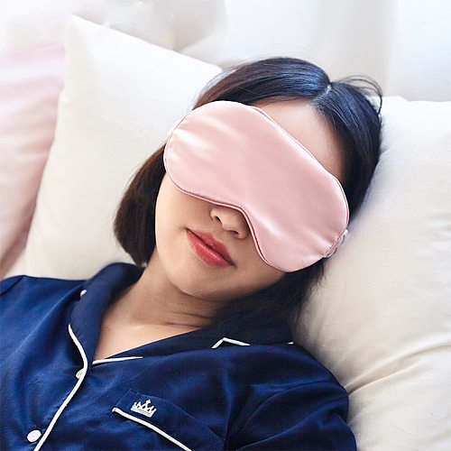 100% 16 Momme Mulberry Pure Silk Eye Cover Double-Side Eye Shade Sleeping Eye Mask Cover Eyepatch Blindfolds Health Sleep Shield