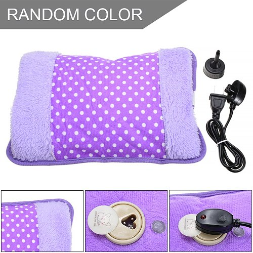 Cute Dot Pattern 220V 500W Rechargeable Winter Hand Warmer Electric Hot Water Bottle Bag Hand Warmers with Plug Converter Random