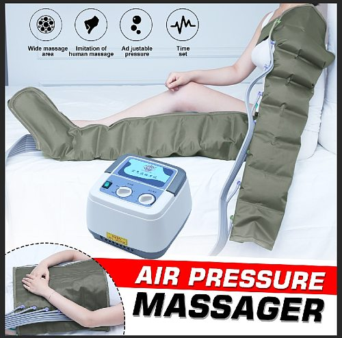 8 Air Chambers Compression Massager Multifuction Vibration Infrared Therapy Leg Arm Waist Pneumatic Air Wraps Relax Pain Relief