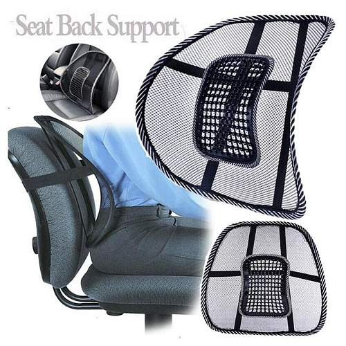 1Pcs Office Waist Pad Gives Lower Back Support Aligned Neutral Spine Car Seat Chair Cushion Pad Massage Vent Mesh Lumbar
