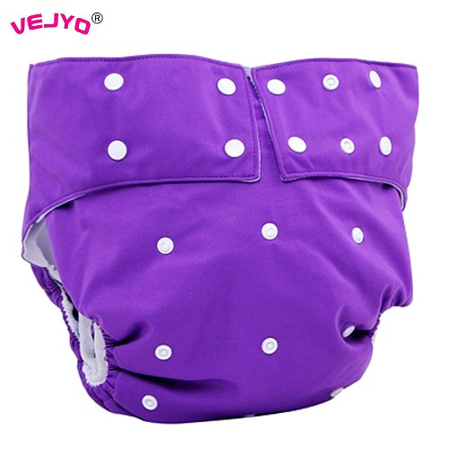 VEJYO Teen Adult Reusable Cloth Diaper for Old People and Disabled Incontinence Pant Underwear Fit Waistline 19.7in to 41.3 inch