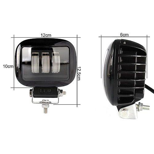 6D Lens 5 Inch Square Led Work Light 12V 24V For Car Auto 4x4 Off road ATV Tractor Trucks SUV Uaz Niva Motorcycle Driving Lights