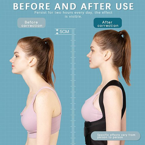 Brace Support Belt Adjustable Back Posture Corrector Corset Stop Slouching and Hunching Adjustable Back Trainer