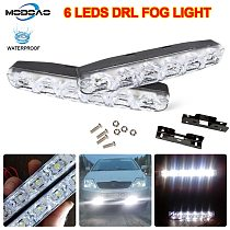 2Pcs 6 LEDs Car Daytime Running Lights Car-styling DRL Car Daytime Lamp Auto Fog Light Super Bright Waterproof DC 12V