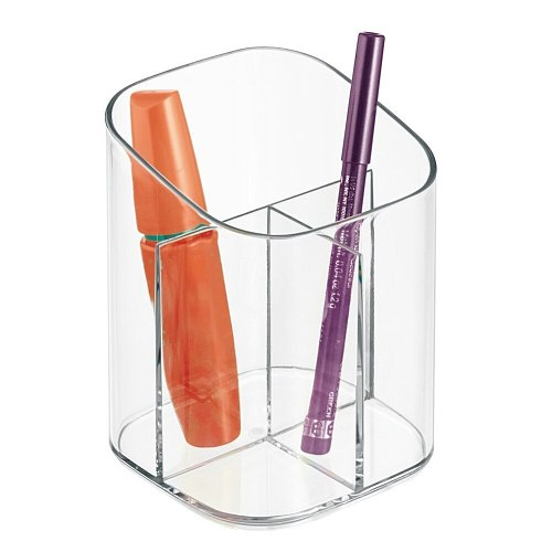 Good Healthy Transparent Acrylic Pen Pencil Holder Makeup Brush Cosmetic Storage Box