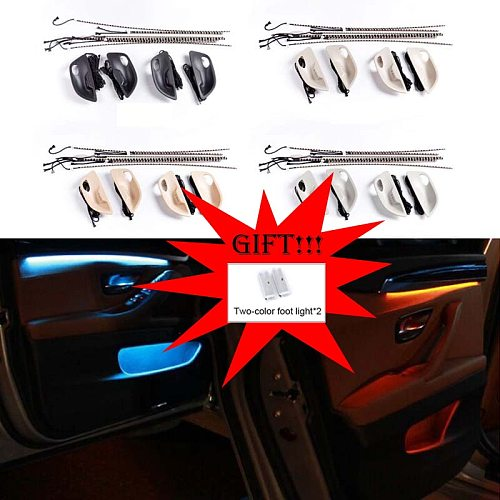 Car Interior Decorative Led Ambient Door Light Stripes Atmosphere Light With 2 Colors For BMW 5 Series F10/F11 2010-2017