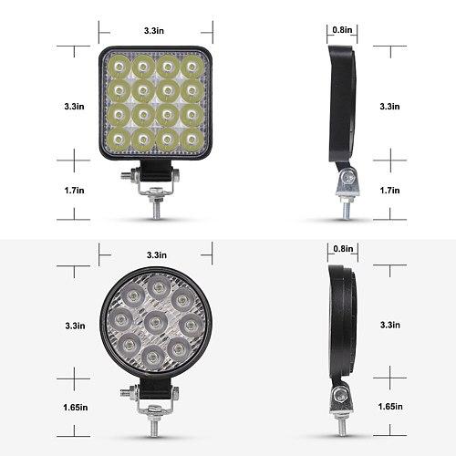 ANMINGPU Mini Offroad LED Bar 12V 24V Square LED Work Light for Car Truct Boat Atv 4x4 Tractor 42W 48W Spotlight LED Light Bar