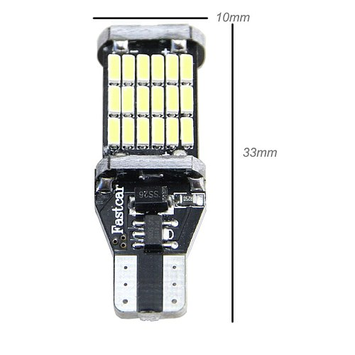 2x Canbus T15 W16W LED Bulbs Reverse Lights 4014SMD Car LED Back Up Rear Lamp For BMW 5 Series E60 E61 F10 F11 F07 Mini Cooper