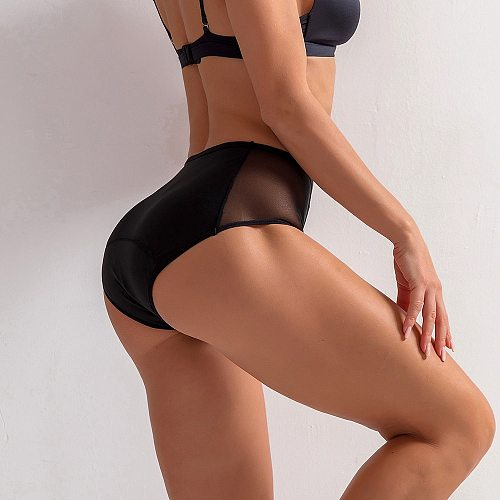 Sexy Women Menstrual Panties Physiological Undies Four Layer Leakproof High Waist Mesh Menstrual Underwear