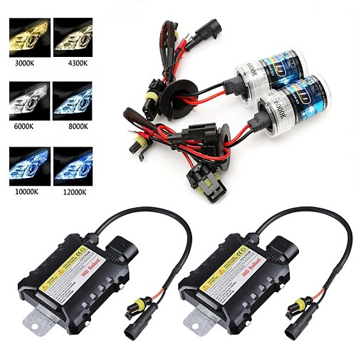 1SET H7 35W/55W H1 H3 H8/H9/H11 9005 9006 H4 9004 9007 H13 Single Xenon Slim Ballast kit 12V HID Xenon Headlight bulb