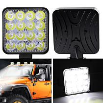 SALE 2Pcs 48W Square Bright LED Spotlight Work Light Car SUV Truck Driving Fog Lamp for Car Repairing Camping Hiking Fishing CSV