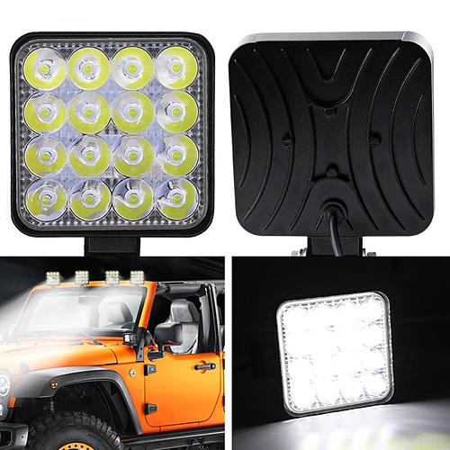 SALE 2Pcs 48W Square Bright LED Spotlight Work Light Car SUV Truck Driving Fog Lamp for Car Repairing Camping Hiking Fishing CSV