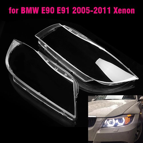 For BMW E90 E91 318I 320i 325i 330i Car Lamp Shade Transparent Xenon Headlamp Shade Pc Lamp Shade Cover Car Headlight Lens