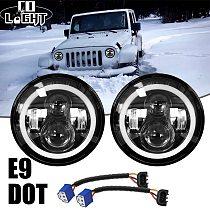 CO LIGHT 2pcs 7 Inch Led Driving Light 50W 30W H4 H13 LED Car Headlight Kit Auto for Lada Led Head Lamp Bulbs Dipped & High Beam