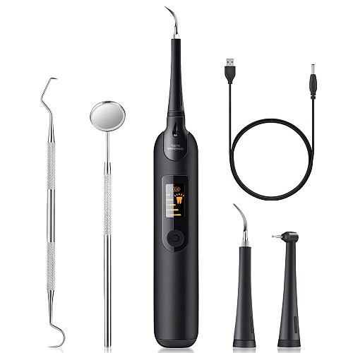 Electric Sonic Dental Scaler Oral Irrigator Tooth Calculus Remover Rechargeable Tooth Stains Tartar clean Tool with LED Display