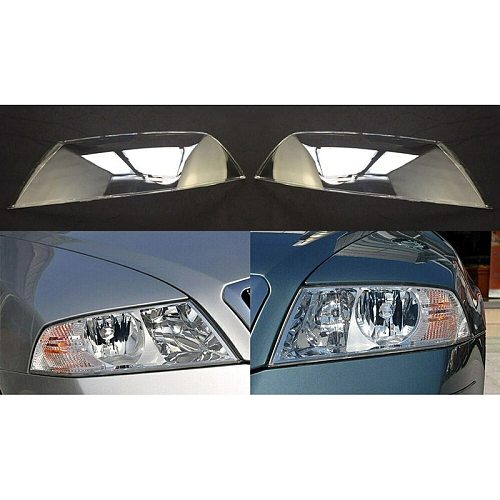 Car Front Headlight Cover for 2007-2009 Skoda Octavia Headlight Waterproof Clear Lens Auto Shell Cover