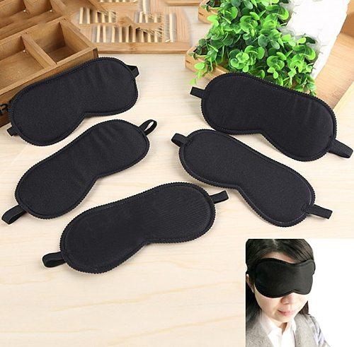 Portable Soft Eye Mask Black Fast Sleeping Eyeshade Cover Eye Masks Shade Patch Women Men Blindfold Travel Sleepmasker